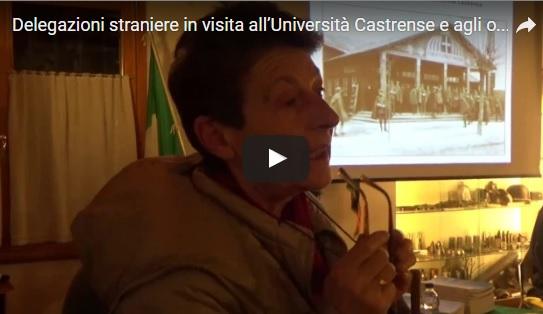 Delegazioni straniere in visita all'Università Castrense e agli ospedali nelle retrovie